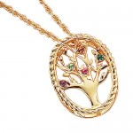 Sterling Silver Pendant , 9 Fabulous Grandchildren Birthstone Necklace In Jewelry Category