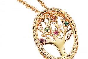 Jewelry , 9 Fabulous Grandchildren Birthstone Necklace : Sterling Silver Pendant