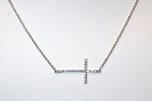 Jewelry , 8 Awesome Sterling Silver Sideway Cross Necklace : Sterling Silver Sideways Cross
