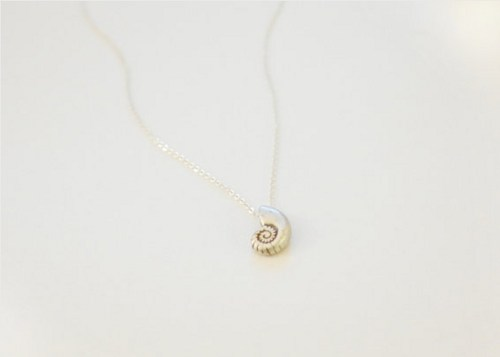Jewelry , 8 Charming Ariel Shell Necklace : Sterling Silver Chain Necklace