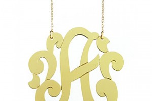 800x800px 8 Stunning Jennifer Zeuner Large Swirly Initial Necklace Picture in Jewelry