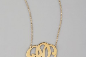 Jewelry , 8 Beautiful Monogram Necklace Jennifer Zeuner : Swirly Initial Necklace