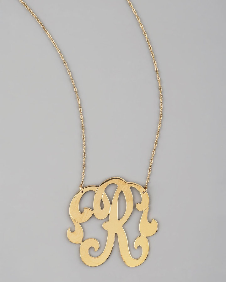 8 Beautiful Monogram Necklace Jennifer Zeuner in Jewelry