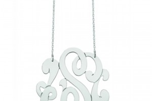 Jewelry , 8 Awesome Jennifer Zeuner Initial Necklace : Swirly Initial Necklace