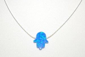 Jewelry , 7 Excellent Blue Opal Hamsa Necklace : Symbol Charm Pendant