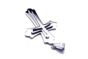 Jewelry , 8 Unique Mens Silver Crucifix Necklace : Titanium Pendants
