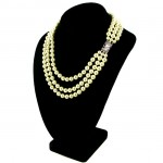 Triple Strand Faux Pearl Necklace , 7 Stunning Jackie Kennedy Pearl Necklace In Jewelry Category