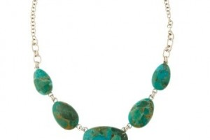 Jewelry , 8 Popular Barse Turquoise Necklace : Turquoise Link Necklace