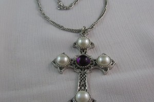 Jewelry , 8 Good Crusader Cross Necklace : Vintage Sarah Coventry Necklace