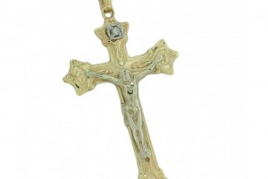 Jewelry , 8 Gorgeous Mens Gold Crucifix Necklace : Yellow Gold Diamond