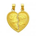 Yellow Gold Medium , 8 Beautiful Broken Heart Necklaces For Couples In Jewelry Category