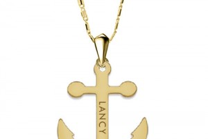 Jewelry , 7 Best Engraved Anchor Necklace : anchor name necklace