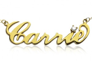 580x580px 7 Amazing Carrie Bradshaw Name Necklace Picture in Jewelry