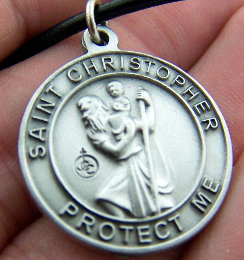 Jewelry , 8 Beautiful ST Christopher Protect Us Necklace :  Choker Necklace