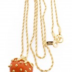coral strawberry pendant , 8 Wonderful Kenneth Jay Lane Strawberry Necklace In Jewelry Category