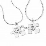 couple necklace , 8 Lovely Matching Puzzle Piece Necklace In Jewelry Category
