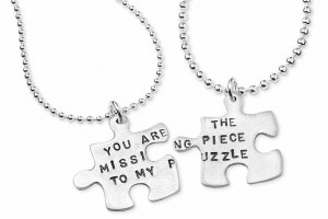 Jewelry , 8 Lovely Matching Puzzle Piece Necklace :  couple necklace