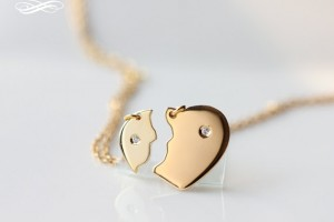 Jewelry , 8 Beautiful Broken Heart Necklaces For Couples : couples broken heart necklace
