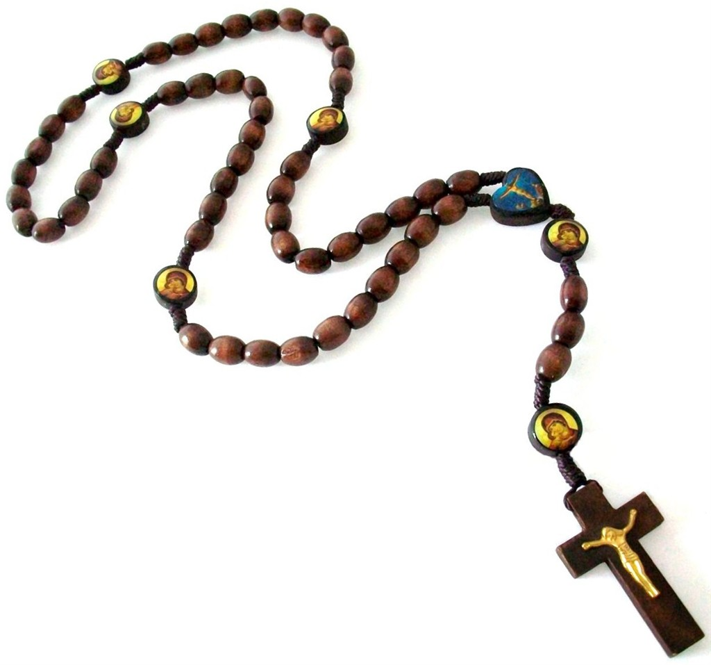 religious brown symbols praying vector photo rosary wooden necklace beads symbol stock catholic beaded