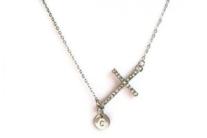 Jewelry , 7 Popular Engravable Cross Necklace :  cross necklace