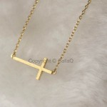 cross necklaces for men , 8 Cool Sideway Cross Necklace Gold In Jewelry Category