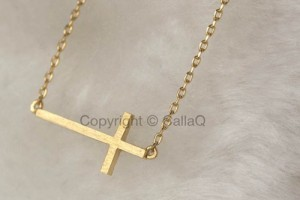 Jewelry , 8 Cool Sideway Cross Necklace Gold :  cross necklaces for men
