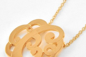 440x550px 6 Charming Swirly Initial Necklace Picture in Jewelry
