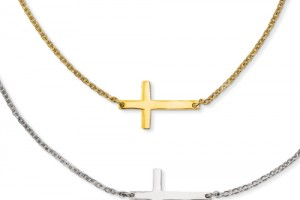 Jewelry , 8 Awesome Cross Necklaces For Women Sideways :  cross necklaces for women