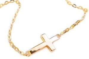 Jewelry , 8 Fabulous Sideways Gold Cross Necklaces For Women :  diamond cross