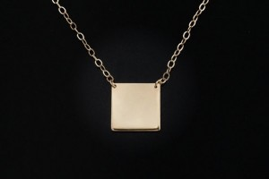 Jewelry , 8 Charming 14kt Gold Initial Necklace :  diamond necklace