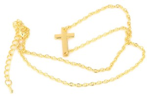 Jewelry , 8 Nice Sideway Cross Necklace :  diamond necklace