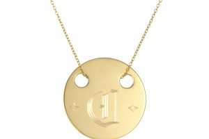 Jewelry , 7 Awesome Gold Disc Monogram Necklace :  diamond necklace
