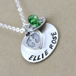 diamond necklace , 8 Charming Initial Necklace For Moms In Jewelry Category