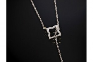 Jewelry , 8 Awesome David Yurman Lariat Necklace : diamond quatrefoil lariat necklace