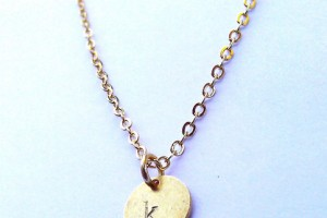 Jewelry , 7 Awesome Gold Disc Monogram Necklace :  engagement rings