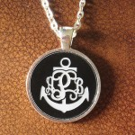 engraved disc pendant , 7 Best Engraved Anchor Necklace In Jewelry Category