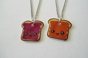 Jewelry , 8 Outstanding Peanut Butter And Jelly Necklaces : friendship necklace