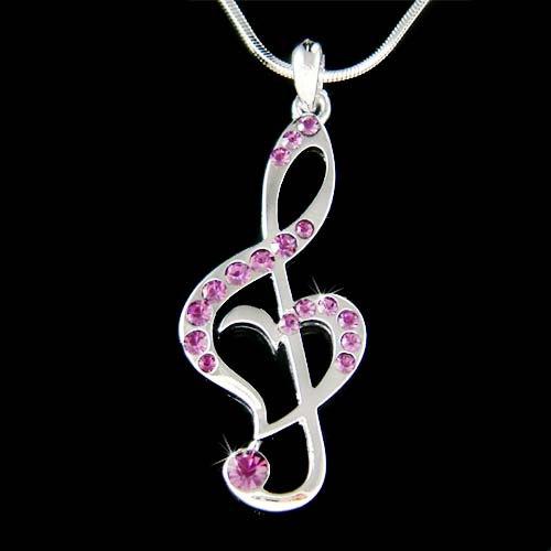 Jewelry , 8 Charming G Clef Necklace :  Gemstone Jewelry