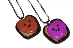 Jewelry , 8 Outstanding Peanut Butter And Jelly Necklaces :  gift for best friend