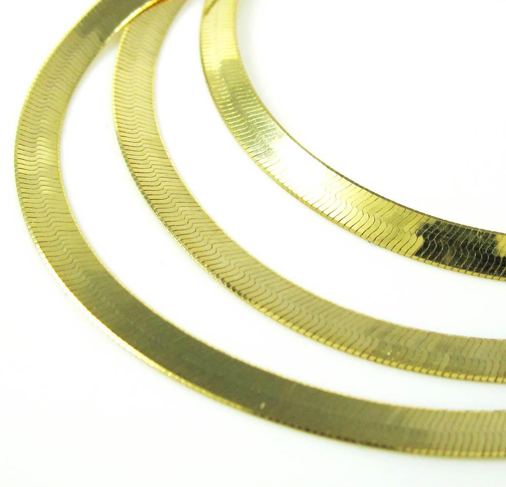 Jewelry , 8 Popular 10k Gold Herringbone Necklace :  Gold Jewelry