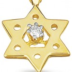 gold necklace for women , 8 Popular Diamond Jewish Star Necklace In Jewelry Category