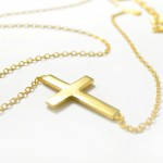 handmade jewelry , 7 Good 14k Gold Horizontal Cross Necklace In Jewelry Category