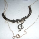 handmade jewelry , 8 Charming G Clef Necklace In Jewelry Category
