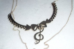 Jewelry , 8 Charming G Clef Necklace :  handmade jewelry