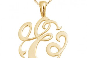 Jewelry , 8 Stunning Metal Script Monogram Necklace : initial necklace