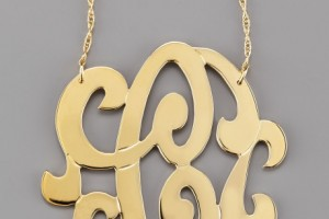 Jewelry , 8 Stunning Jennifer Zeuner Large Swirly Initial Necklace :  jennifer zeuner