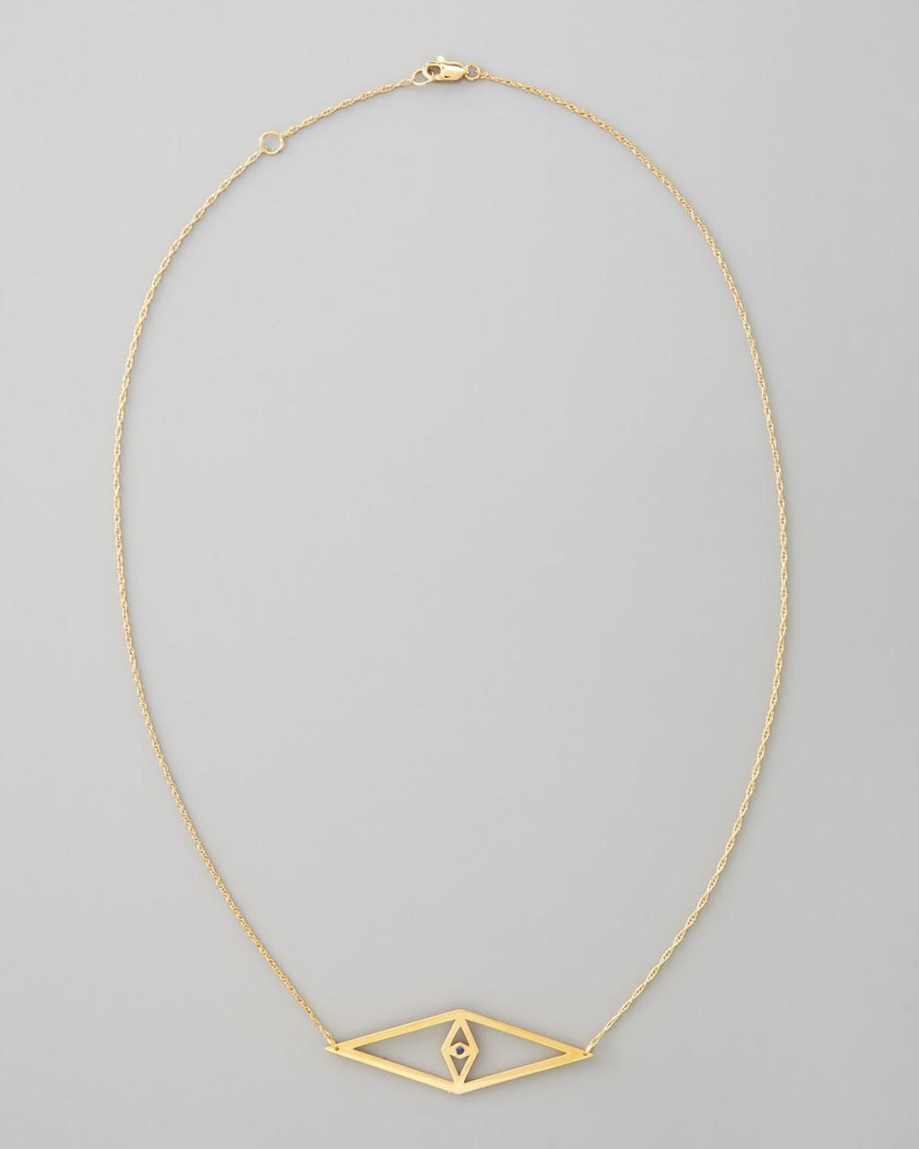 Jewelry , 8 Fabulous Jennifer Zeuner Evil Eye Necklace : Jennifer Zeuner Evil Eye Pendant