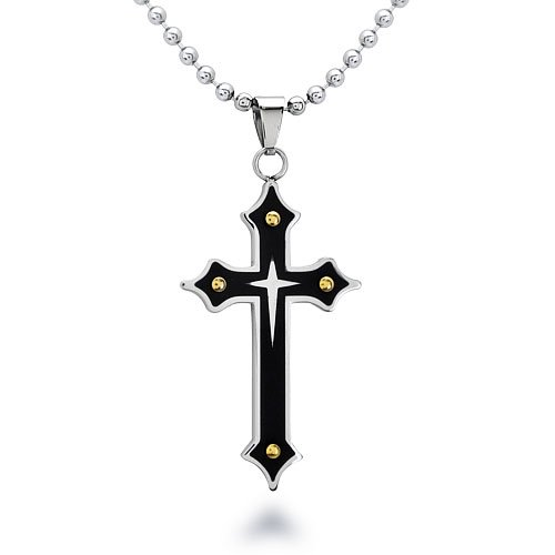 Jewelry , 7 Good Mens Crucifix Necklace : Mens Stainless Steel