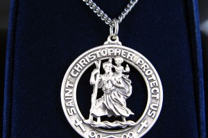 Jewelry , 7 Cool Saint Christopher Protect Us Necklace :  miraculous medal