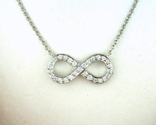 8 Lovely Tiffany And Co Infinity Necklace Diamond in Jewelry